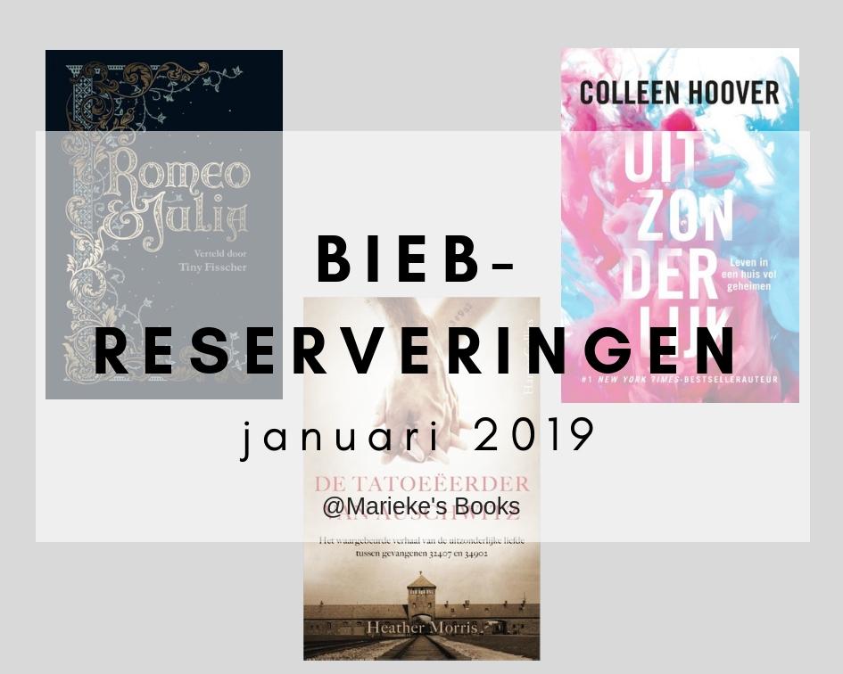 bieb-reserveringen januari 2019 | Marieke's Books