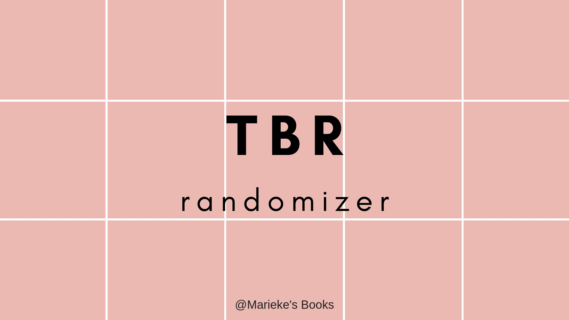 TBR randomizer | Marieke's Books