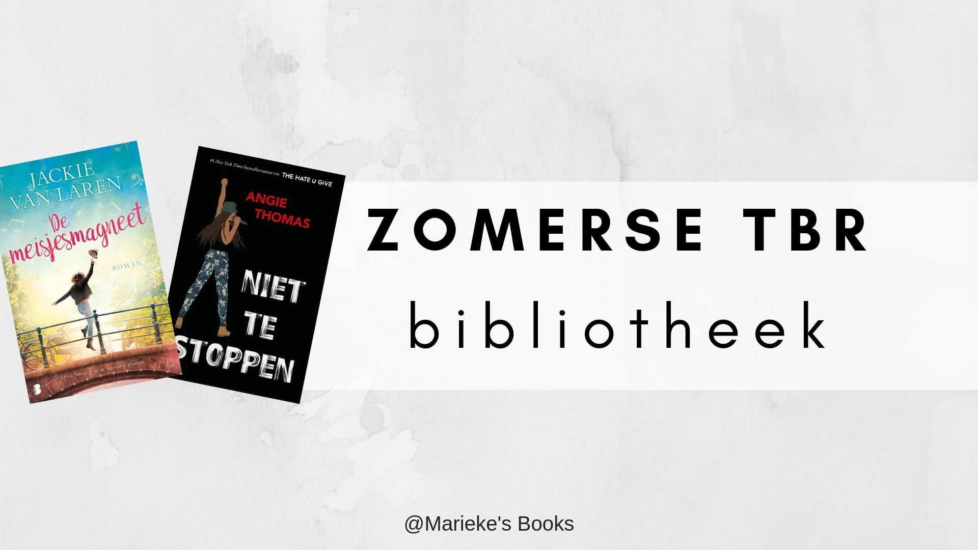 Zomerse TBR bibliotheek |Marieke's Books
