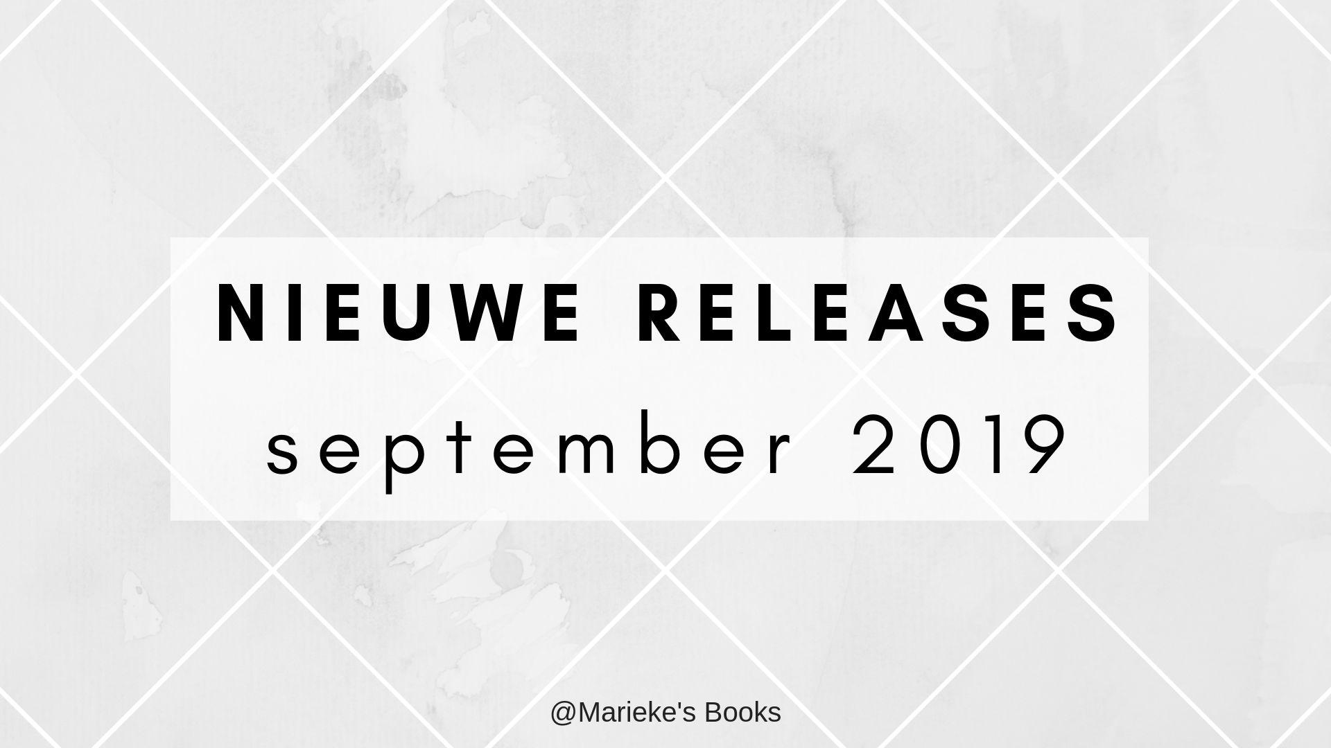 Nieuwe releases september 2019 | Marieke's Books