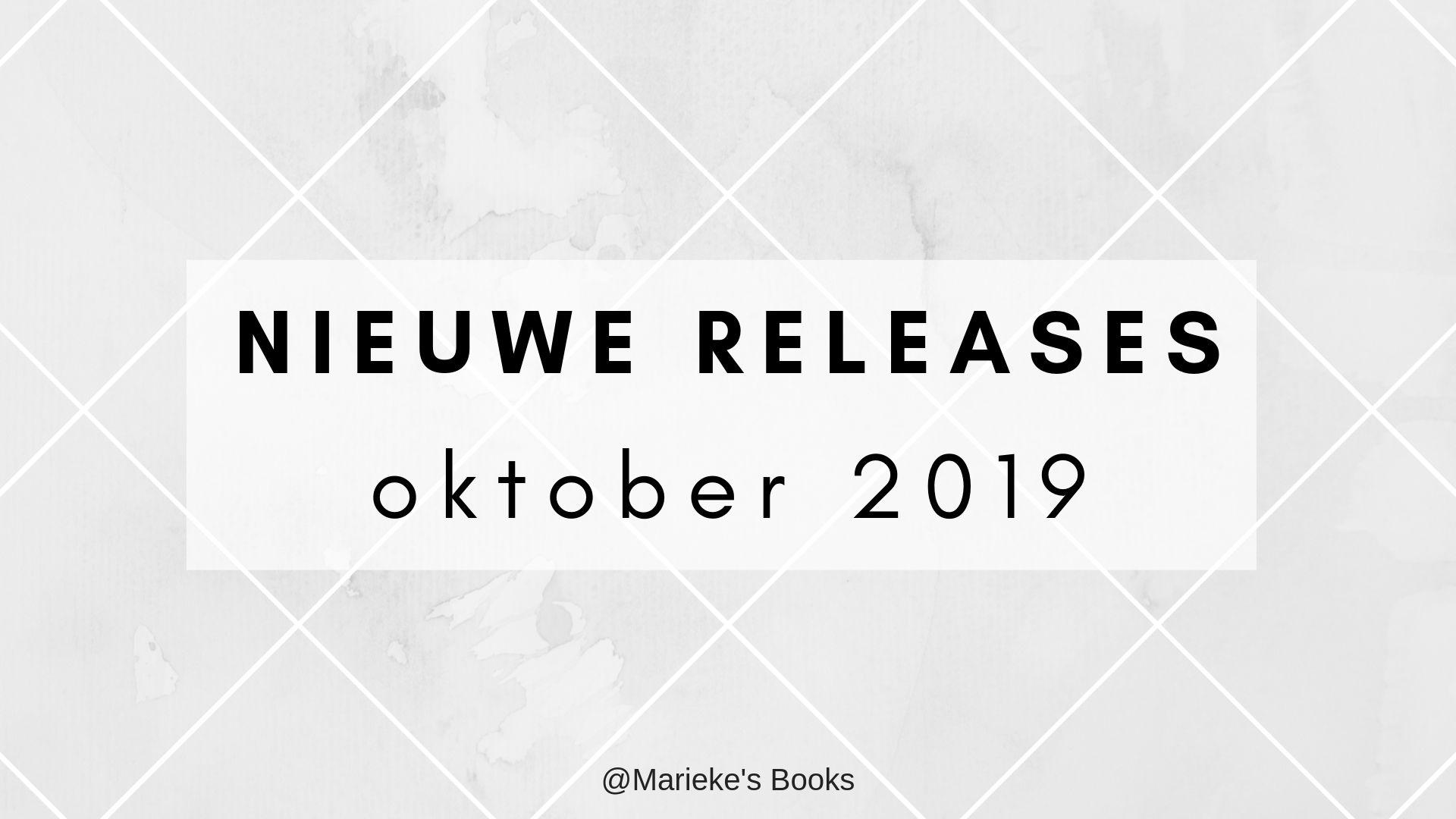 Nieuwe releases oktober 2019 | Marieke's Books